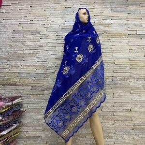Image 1 - Foulards en coton pour femmes africaines, hijab doux, foulard pour femmes musulmanes, en vente BM819, tir réel!