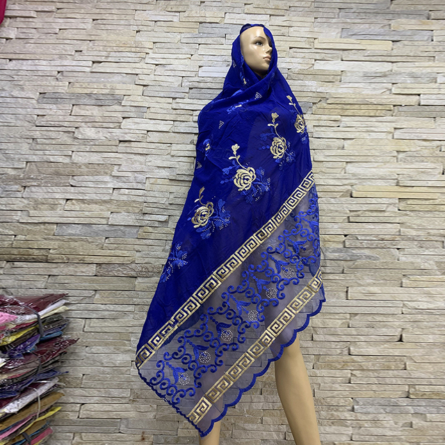 Foulards en coton pour femmes africaines, hijab doux, foulard pour femmes musulmanes, en vente BM819, tir réel!