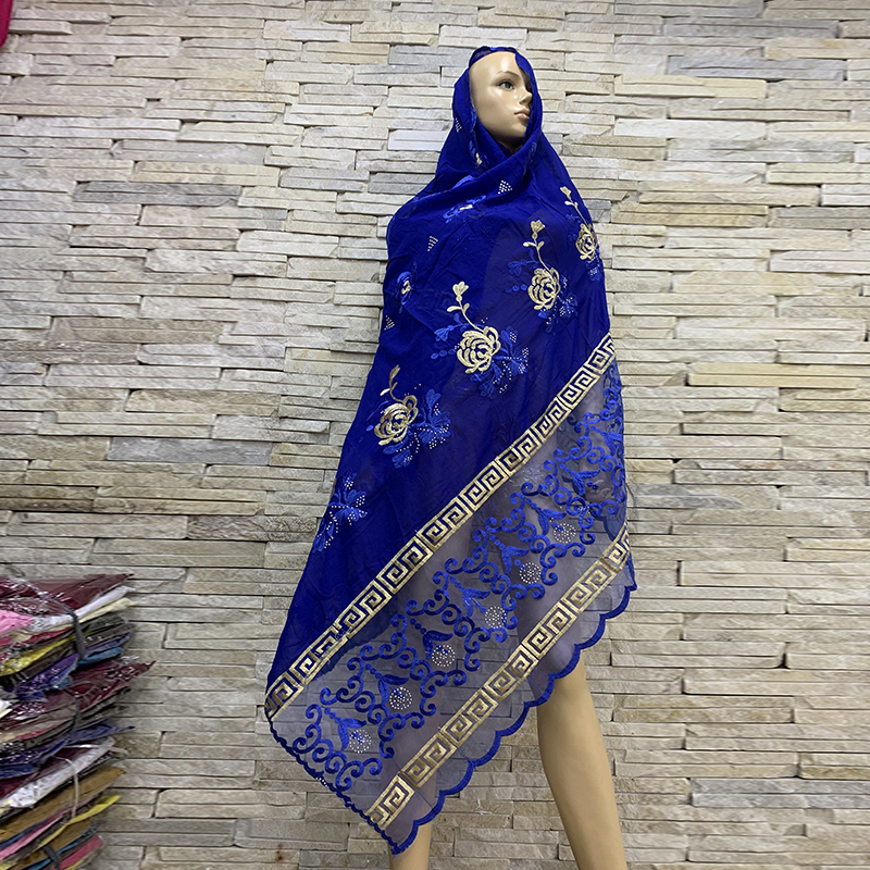 Real Shot!African Women Cotton Scarfs African Muslim Hijab Soft Headscarf Women Hijab Scarf On Sales BM819