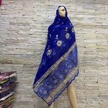Vero E Proprio Colpo! Africano del Cotone Delle Donne Sciarpe africano musulmano hijab Morbido Foulard Donne Sciarpa del Hijab sulle Vendite BM819