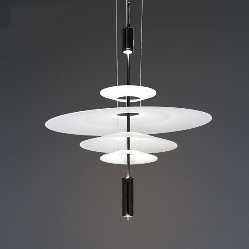 Postmodern Acrylic LED Creative lustre Simple Pendant Light Shade Dining Room Kitchen lamp Designer Hanging Lamp Indoor Lighting Pendant Lights     - title=