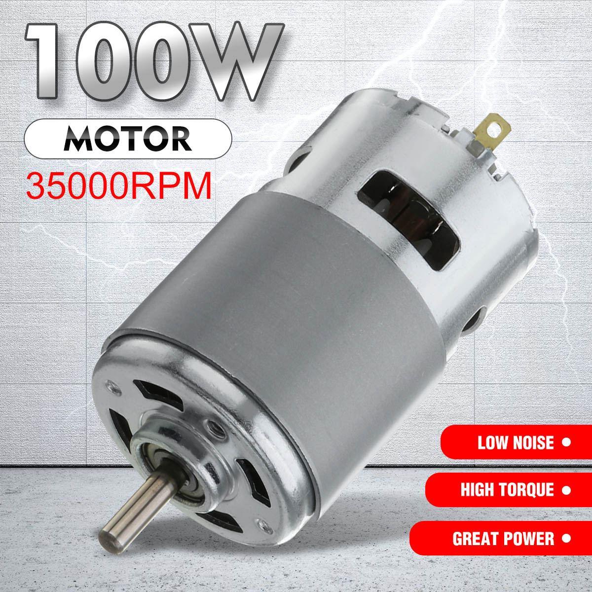 Caliente 775 DC Motor Max 35000 RPM-24 V DC 12V rodamiento de bolas gran Torque alta potencia baja motor de engranaje de Ruido Motor de componente electrónico