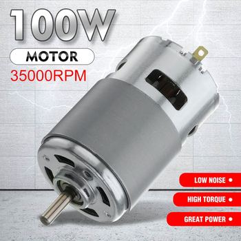 Hot 775 silnik DC Max 35000 obr min DC 12 V-24 V łożysko kulkowe duży moment obrotowy o dużej mocy z niski poziom hałasu motoreduktor element elektroniczny silnik tanie i dobre opinie Other Mikro silnika 12V~24V 100W 35000RPM(max)