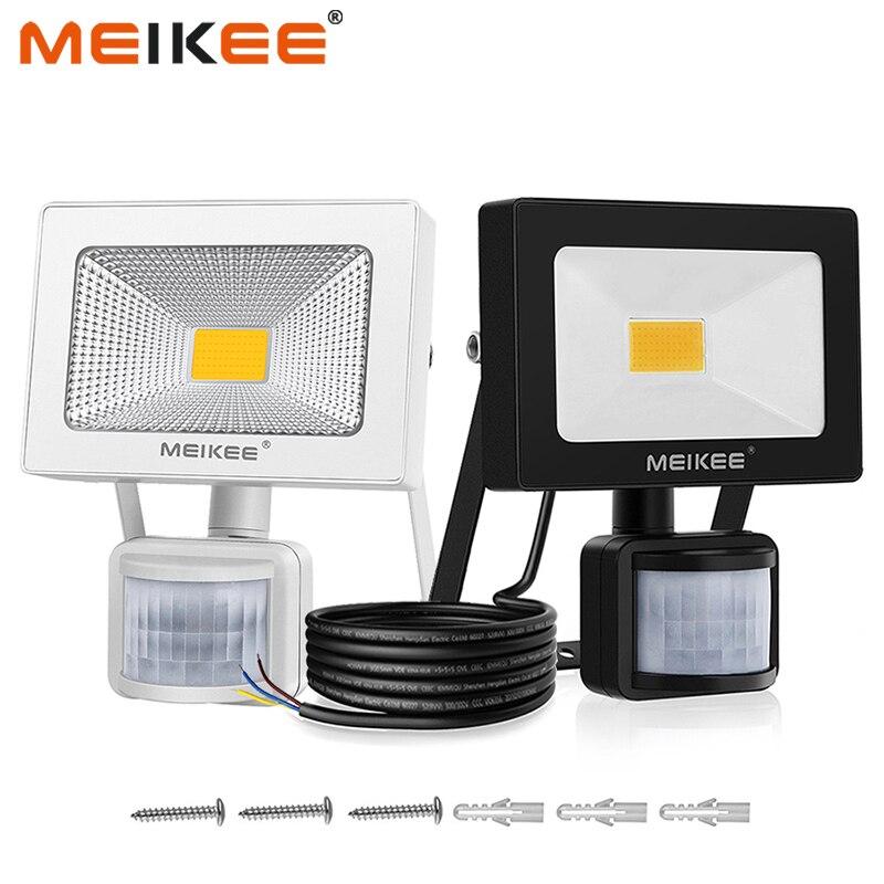 10W COB LED Sensor Flood Light AC110V 220V Outdoor LED Floodlights Waterproof Wall Reflector Projector Lamp Spotlight For Garden