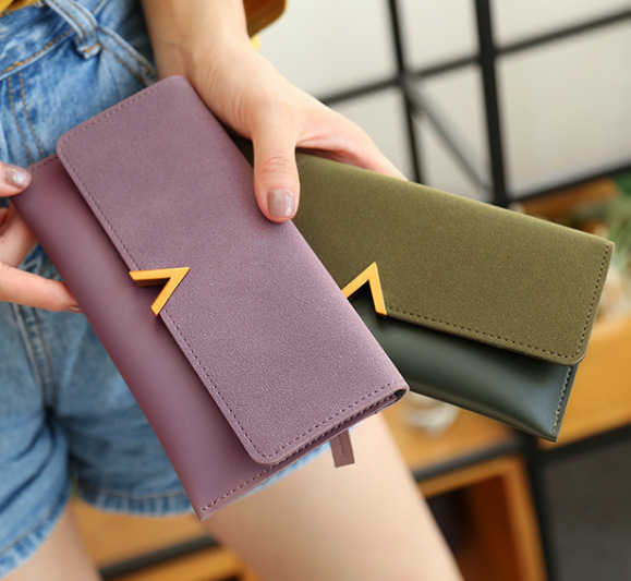Leather Women Wallets Hasp Lady Moneybags Coin Purse Woman Envelope Wallet Money Cards ID Holder Female Purse Clutch Cartera Muj