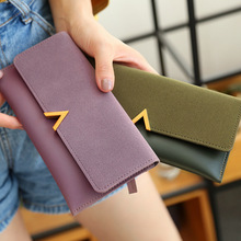 Leather Women Wallets Hasp Lady Moneybags Coin Purse Woman E