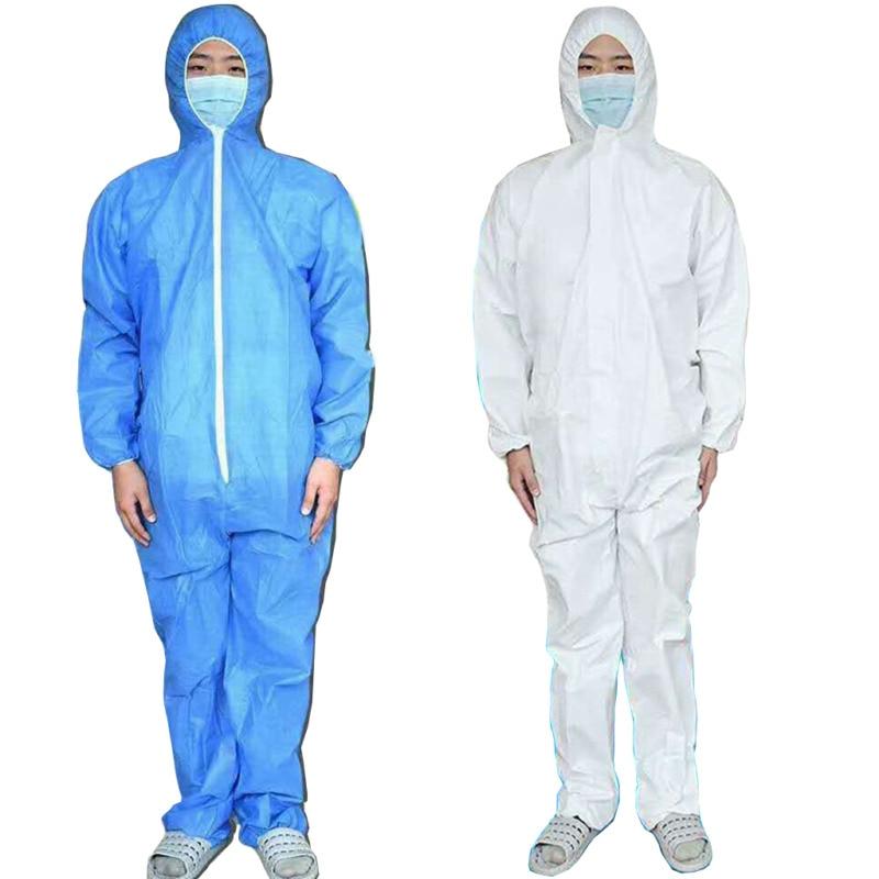 Brand New Anti-fog Protect Virus Washable Hazmat Suit Anti-Virus Protection Clothing Safety Coverall Blue White