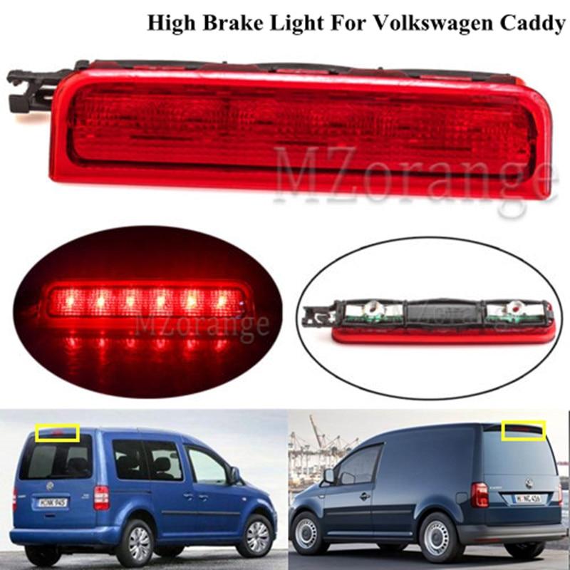 MZORANGE Centre wysoki poziom tylne światło hamowania dla Volkswagen Caddy 2003-2015 trzeci 3rd Stop lampa samochodów LED żarówki 2K0 945 087C