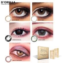 D'ORELLA 1 Pair(2pcs) MONET Series Cosmetic Contact Lens Eye Color Cirle Lens Coloured  Contact Lenses for Eyes