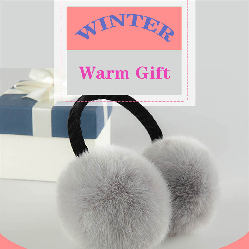 Unisex Winter Earmuffs Cute Ear Warmers for Women Plush Earmuffs,rabbit,white