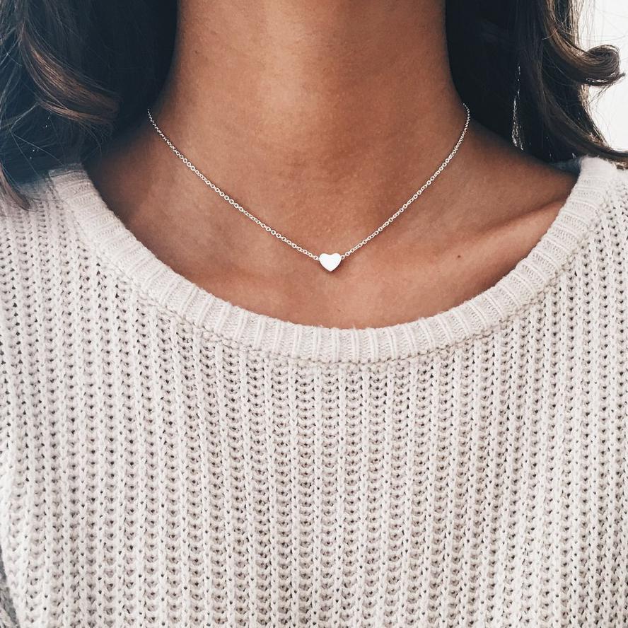 Новая мода стимпанк изящный круг колье ювелирные изделия круглые минималистические цепи кулон ожерелье для женщин ювелирный подарок дешевый воротник - Окраска металла: 219 silver