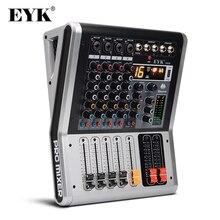 EYK EA40 4 kanały konsola miksująca z wyciszeniem i wyniki PFL przełącznik Bluetooth rekord 3BAND 16 efekt DSP USB profesjonalny sprzęt Audio mikser DJ