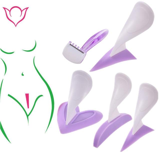 עבור נשים ביקיני ייעודי טוראים גילוח סטנסיל סקסי נשי ערווה שיער תער אינטימי עיצוב יופי מכשיר כלי
