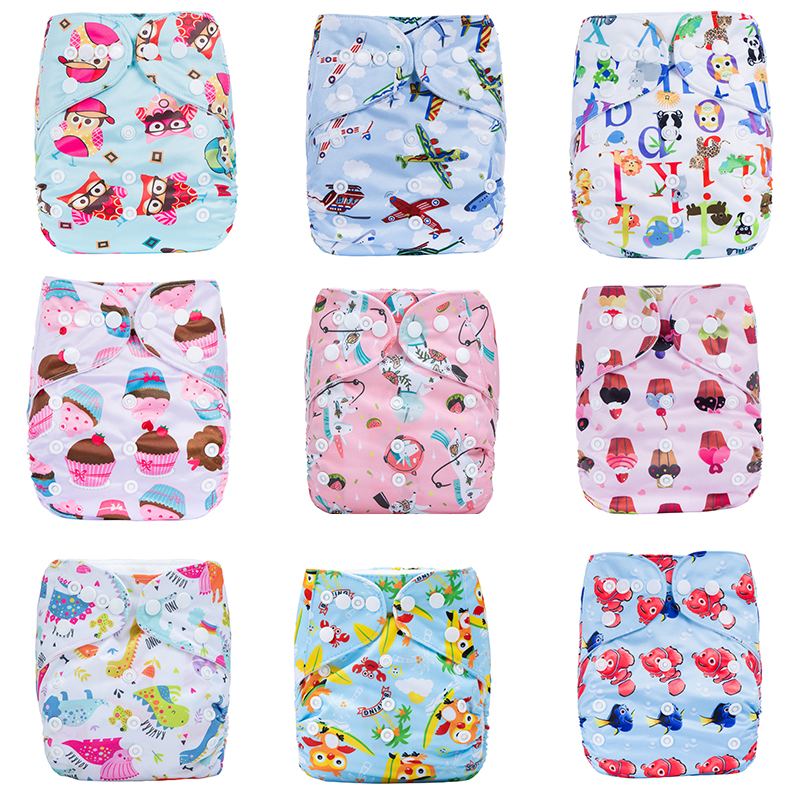 2020 New Washable Eco-Friendly Cloth Diaper Adjustable Nappy Reusable Cloth Diapers Fit 0-2years 3-15kg baby
