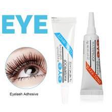 Cílios cola clara-branco/escuro-preto impermeável olho lash cola cílios postiços maquiagem adesivo cosméticos ferramentas tslm2