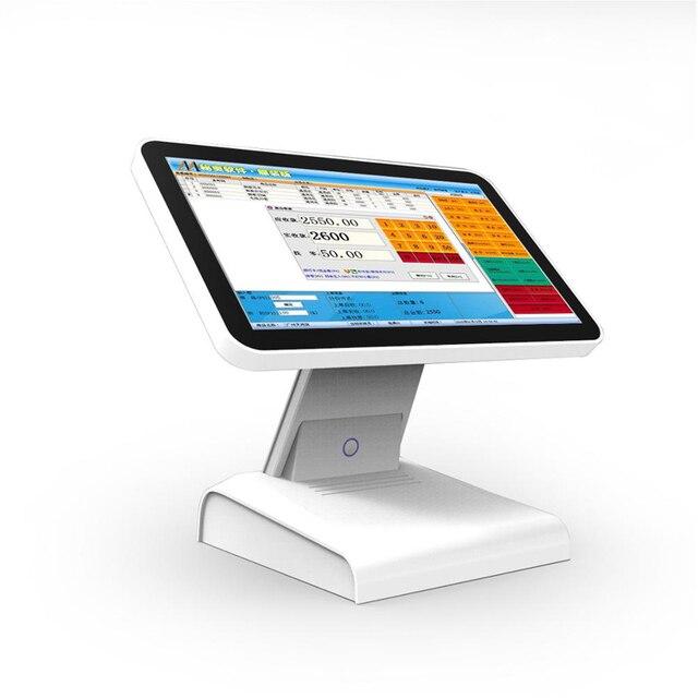 Meilleure vente d'usine 15 pouces tout en un écran tactile Pos système de Point de vente pour Restaurant supermarché caisse enregistreuse 6