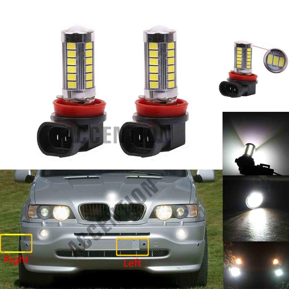 2Pcs For BMW E53 X5 2000 2001 2002 2003 2004 2005 2006 2007 Fog Lamp LED Bulbs