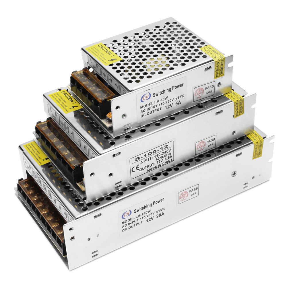 Chuyển Đổi Nguồn Điện Đèn Led Driver AC 220V 110V Ra 12V Sạc Chức Nguồn Adapter biến Áp Cho Dải Đèn Led/Camera Quan Sát
