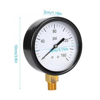 Miernik ciśnienia w 0-160psi mechaniczny miernik ciśnienia 1 4 cal NPT dolne połączenie cyfrowy miernik ciśnienia tanie i dobre opinie VBESTLIFE 1 9 Cali i Pod ANALOG 150-199 PSI