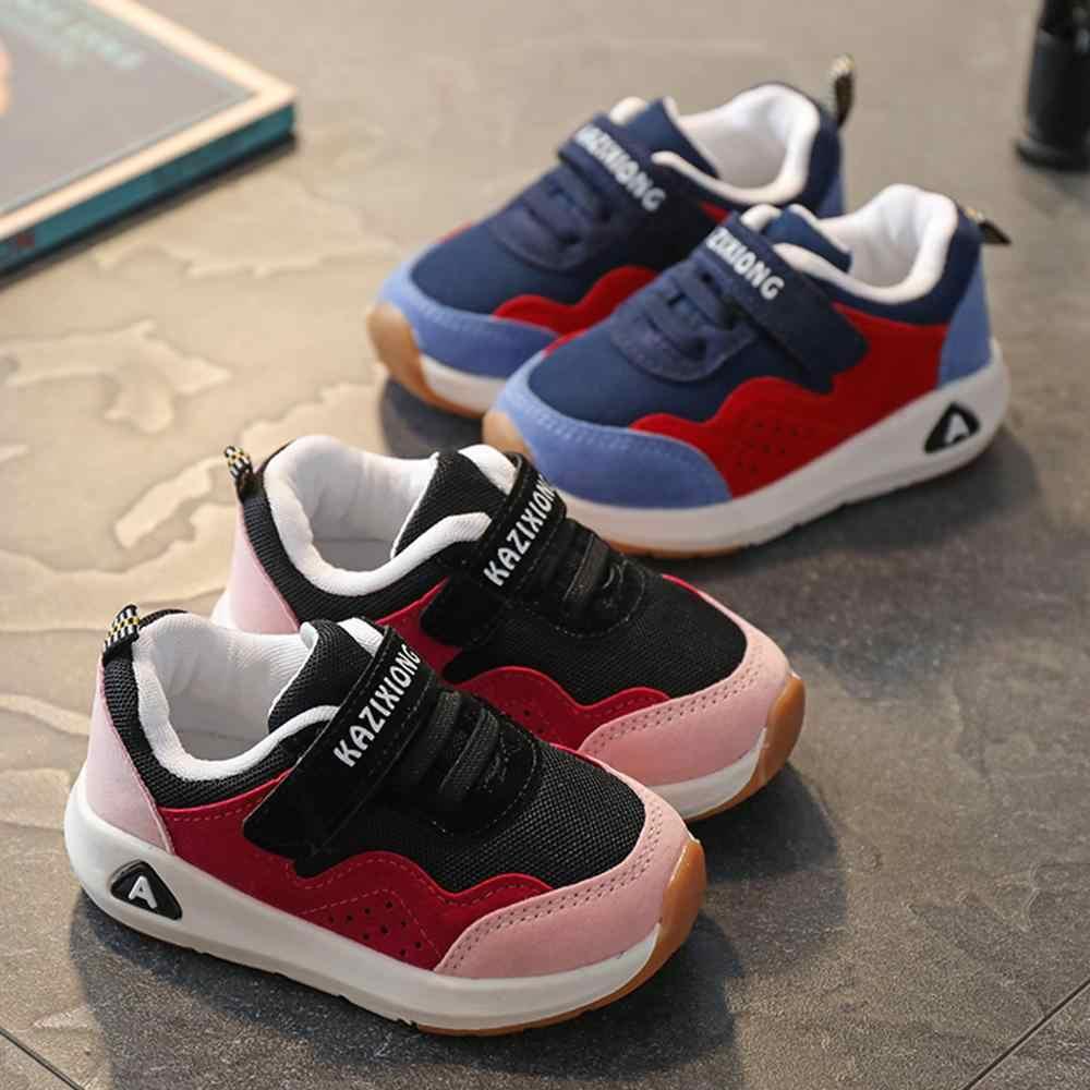 MUQGEW Kinderen Sportschoenen Jongens Meisjes Voorjaar Demping Casual Schoenen Peuter Slip Patchwork Ademend Sneakers kinderen schoenen 2019