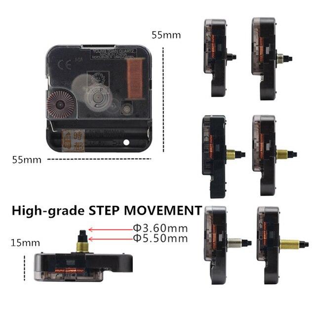 10sets Quarz Wanduhr Bewegung mit Walnut Holz hände Kit Spindel Schritt Mechanismus welle Klassische Uhr Reparatur Ersatz