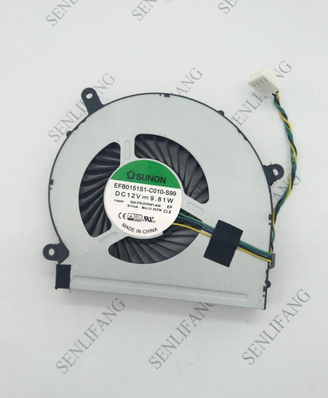 Free Shipping FAN FOR SUNON EFB0151S1-C010-S99 Dell Inspiron 24 5459 All-In-One Desktop CPU Cooling Fan DYKW1