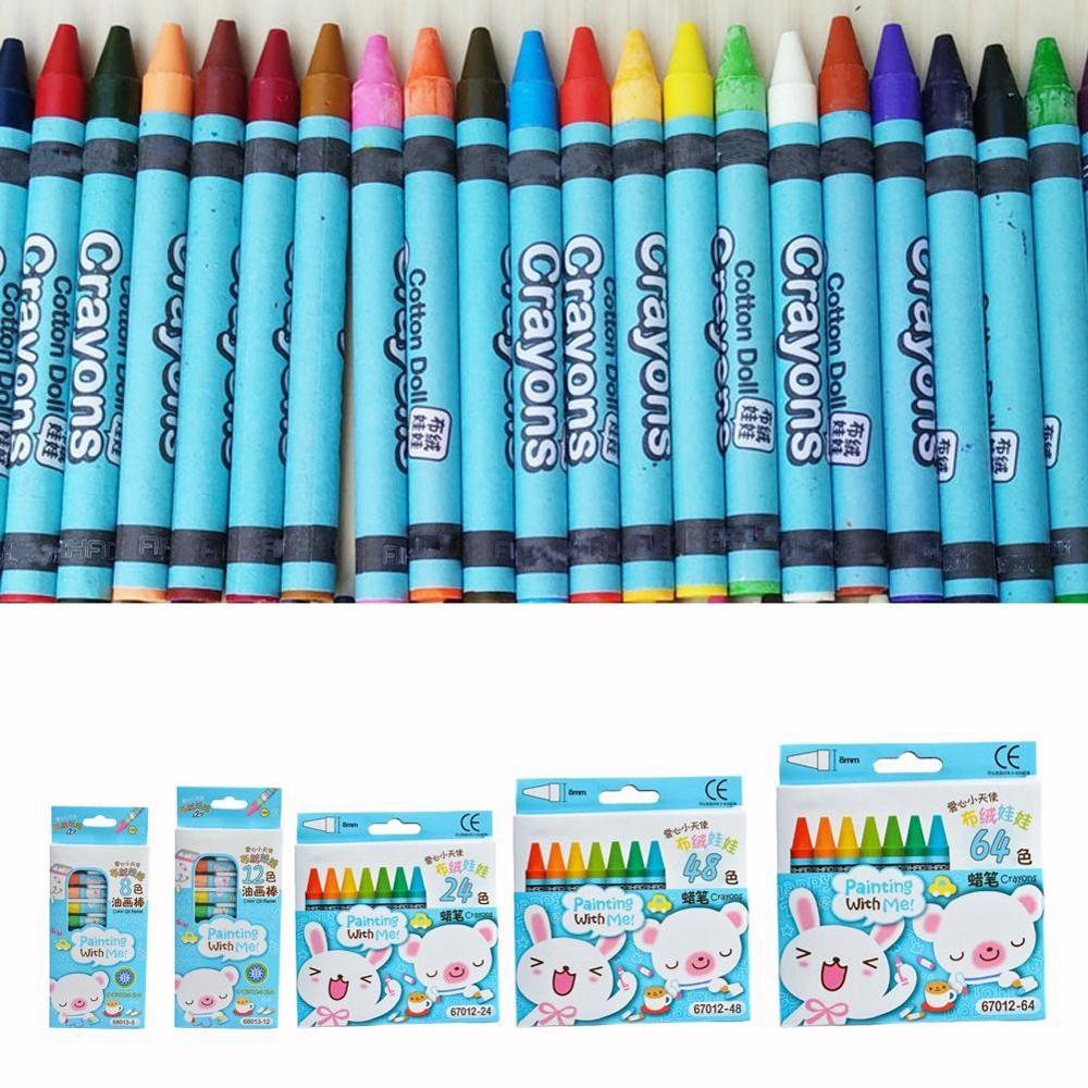 8/12/24 Classic Color Non-Toxic Hameless Crayon Silk Smooth Washable Painting Best Present Set For Children's School Supplies