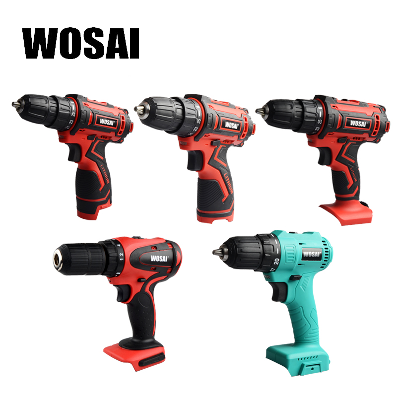 WOSAI 12V <font><b>16V</b></font> 20V Electric Drill Lithium <font><b>Battery</b></font> Cordless Electric Hand Drill Power Rechargeable Tools Screwdriver Power Driver image