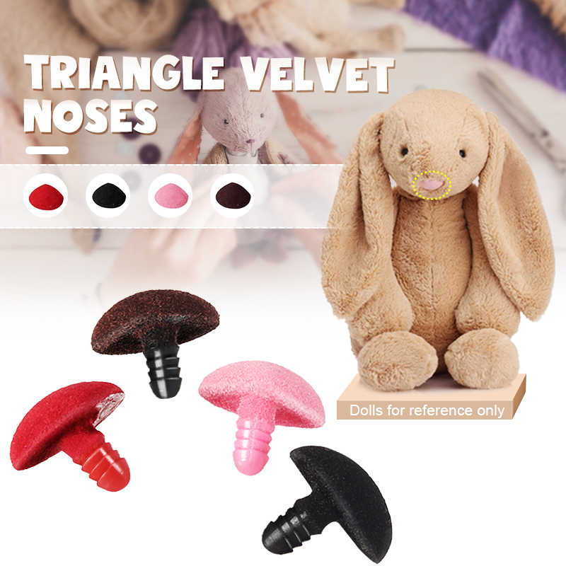 5Pcs Plastic Triangle Velvets Noses Buttons Eyes DIY For Bear Toy Doll Accessories