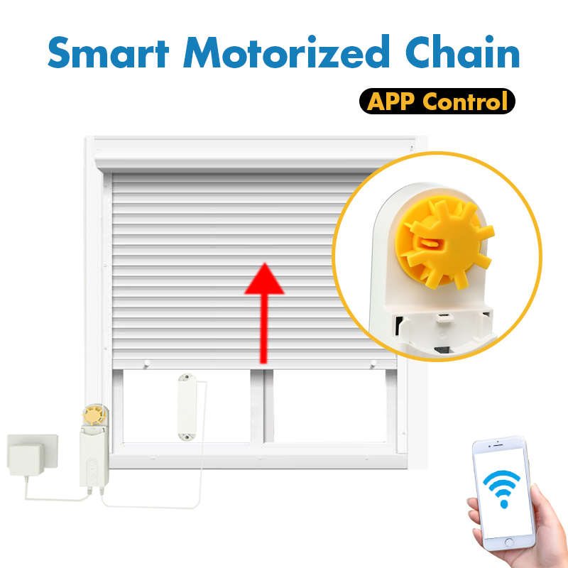 Permalink to DIY Automatic Smart Motorized Chain Roller Blinds Shade Shutter Drive Motor Powered By Solar Panel Charger Bluetooth APP Control