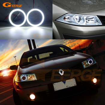 Excellent Ultra bright smd led Angel Eyes Halo Ring kit For RENAULT MEGANE 2 II 2006 2007 2008 2009 Facelift headlight excellent ultra bright cob led angel eyes kit halo ring for renault megane 2 ii 2006 2007 2008 2009 facelift headlight