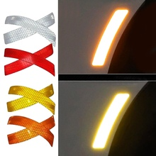 Decal Stickers Reflector Car Bumper Car-Styling-Accessories Safety Warning Auto 2pcs