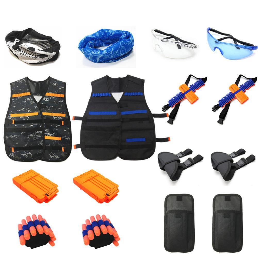 Kids Shooting Target Set Sound Light Outdoor Game High Precision Scoring Auto Reset Electric Gun Toy Accessories Lightweight Bag