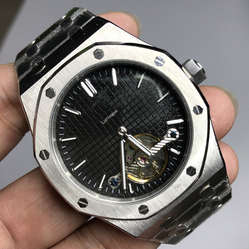 Mens automatic mechanical glide smooth watches classic style 42mm full stainless steel strap wristwatches sapphire Super AAA