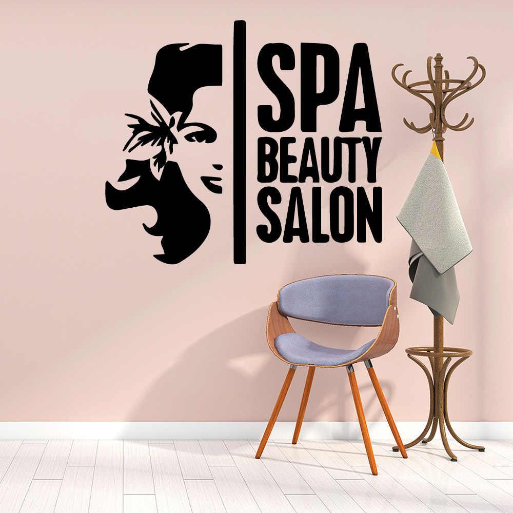 Beauty Spa Salon Vinyl Muurstickers Zelfklevende Behang Voor Schoonheidssalon Kamers Muur Stickers Diy Home Decor Sticker Muurschildering