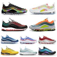 Original men women running shoes Tie Dye Silver Bullet triple s 95 black CLEAR EMERALD NEON SEOUL trainer 97 sports sneakers(China)