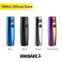 Uwell Nunchaku 2 Mod 100W 6 As Mems Sensor Ondersteuning 18650 20700 21700 Batterij Fit Voor Nunchaku 2 tank E Sigaret Vape Mod
