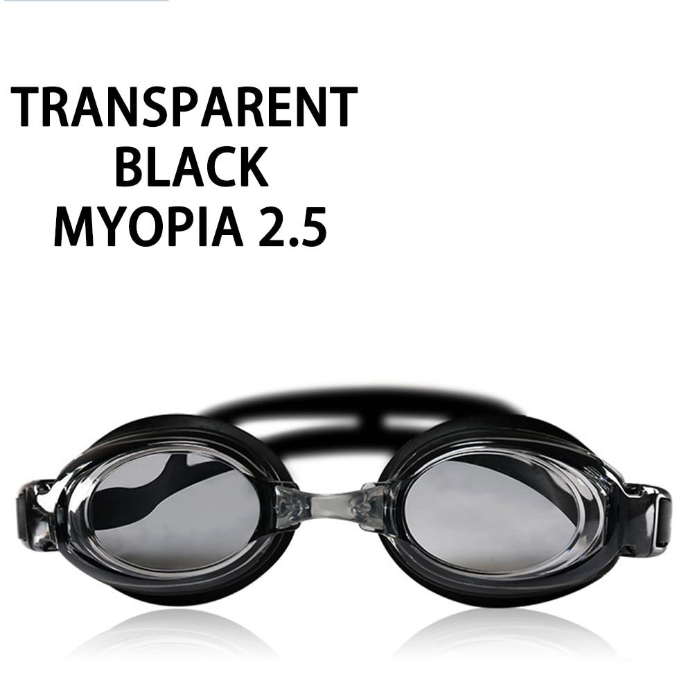 Оптическая близорукость плавательные очки 200-800 градусов Силиконовые противотуманные водная диоптрия плавательные очки для мужчин и женщин очки по рецепту - Цвет: Myopia 250
