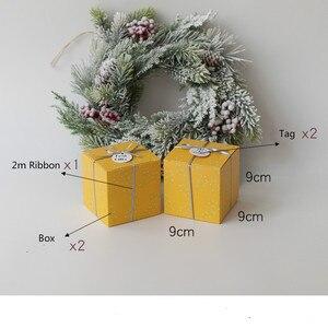 Image 5 - Набор из 10 подарочные коробки для вечеринок с лентой и ярлыком подарочные коробки мир и радость Праздничная коробка Рождественский подарок Подарочная коробка товары для вечеринок