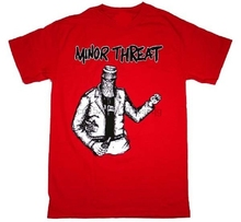 Printed T Shirts Online O-Neck New Minor Threat Bottled Violence Red Punk Men Short Sleeve Print Tee