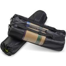 Yoga Backpack Bag Carrier Mesh-Pouch Gym-Bags Pilates Nylon Black Waterproof Strap 1pcs