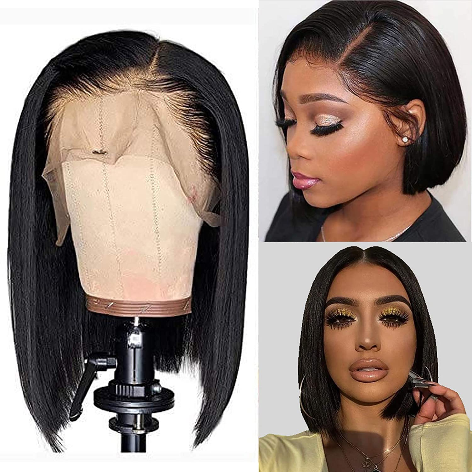 Lace Front Wigs Human Hair 13x4 Bob Wigs Straight Lace Front Wigs Human Hair Short Bob Wigs For Black Women Pre Plucked