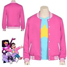 New Movie Steven Universe Quartz Cosplay Men Baseball Uniform Women Coat T-Shirt Jacket Tee Top T Shirt Halloween Costumes(China)