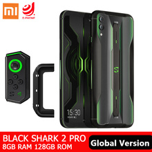 Smartphone xiaomi shark 2 pro 8gb + 128gb global, celular com snapdragon 855, núcleo octa core, câmera de 48mp bateria de 4000mah,