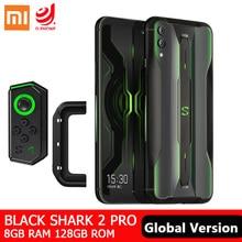 Version mondiale Xiaomi noir requin 2 Pro 8GB 128GB Snapdragon 855 Plus Octa Core Gaming SmartPhone 48MP caméra 4000mAh batterie