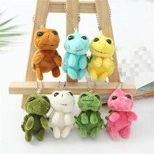 Маленькая новогодняя игрушка, игрушка плюшевая черепаха с цепочкой для ключей, размер 5 см, Мягкая Плюшевая Кукла-черепаха