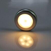 Luz nocturna con atenuación táctil para el hogar, luz LED inteligente de pared con activación, ABS, 3W, 5V, batería AAA, para cocina y armario