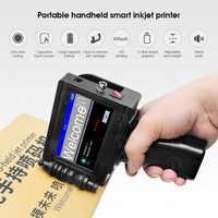 Imprimante portative tenue dans la main Mini Machine d'impression d'étiquettes à jet d'encre écran tactile 600DPI intelligente USB QR Code imprimante d'étiquettes à jet d'encre