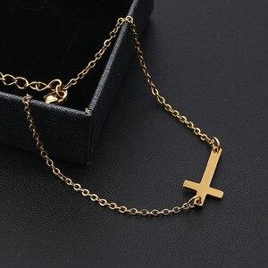 Женский браслет из нержавеющей стали, браслет с цепочкой золотого цвета, религиозная бижутерия, 2020|Браслеты с шармами|   | АлиЭкспресс