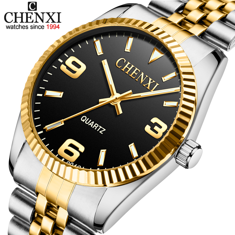 Women Watches Relogio Masculino Fashion CHENXI Quartz Men's Clock Watches Men Luxury Brand+Men Full Steel Watch+Gold Watch Men